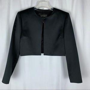 Alex Evenings black bolero/shrug jacket, M